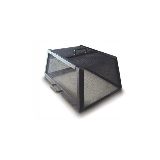 Rectangle Carbon Steel Hinged Fire Pit Screen