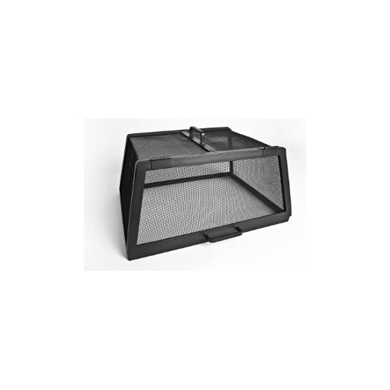 Rectangle Fire Pit Screen - hinged single door access