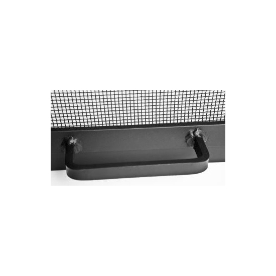 Access door handle is made of Stainless Steel with a black finish