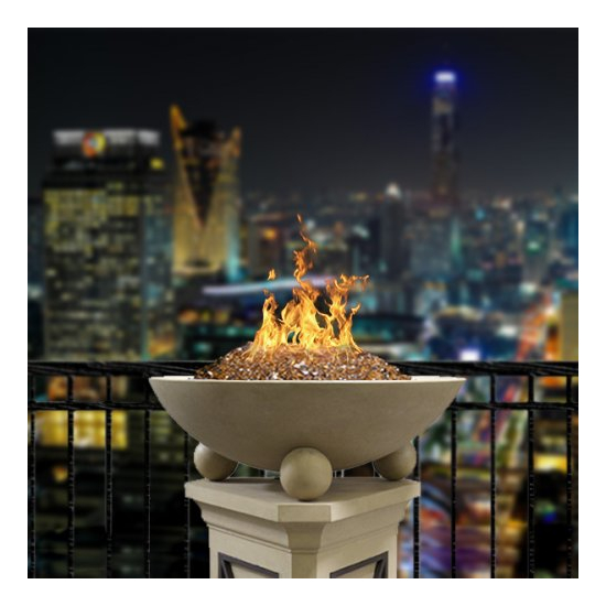 AFD-32 inch round Versailles concrete fire bowl