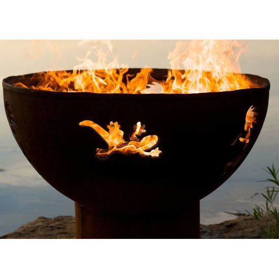 Kokopelli Wood Burning Fire Pit 36 Inches