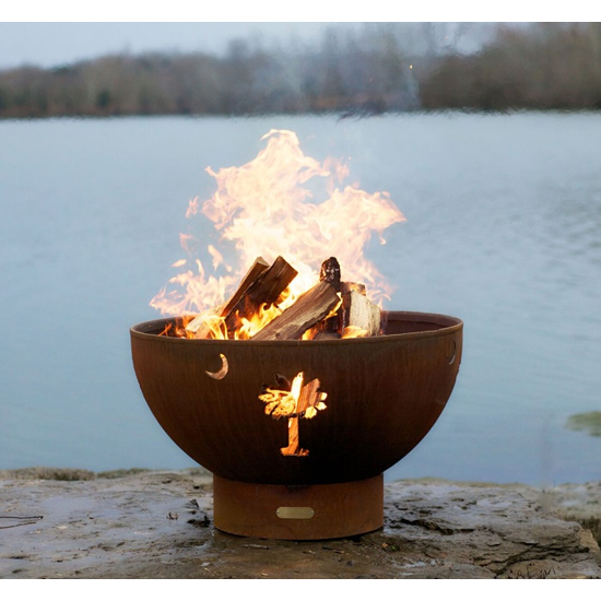 Tropical Moon Wood Burning Fire Pit 36 Inches