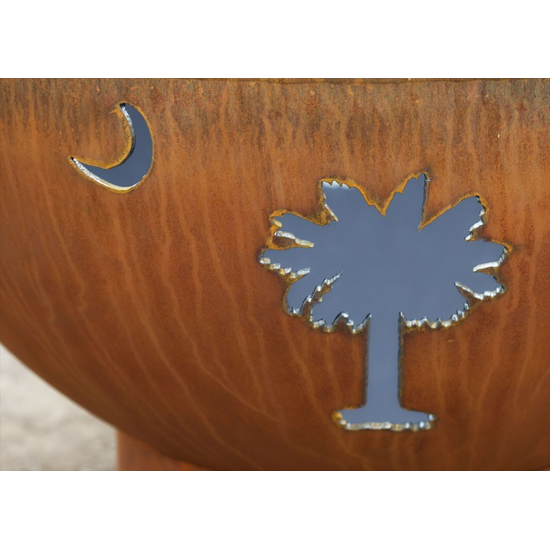 Tropical Moon Wood Burning Fire Pit- 5