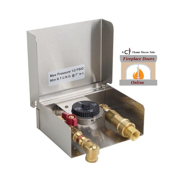 Gas connector box with one hour safety timer