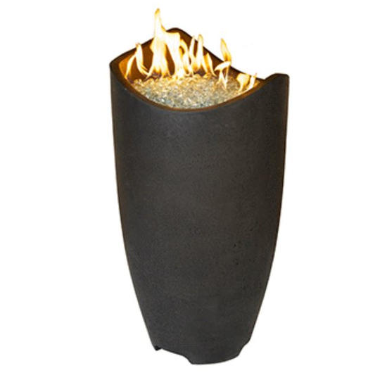 Wave Fire Urn by American Fyre Designs shown in black lava