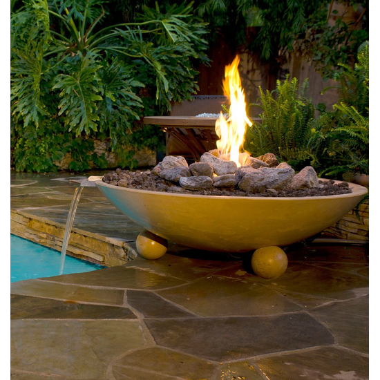 48 inch round Versailles fire and water bowl