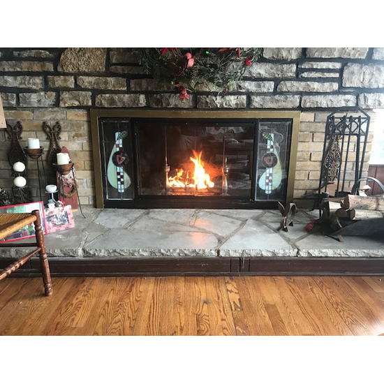 Pelham Zero Clearance Fireplace Door - customer install