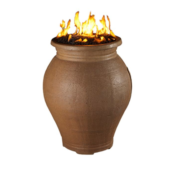 Amphora Gas Fire Urn