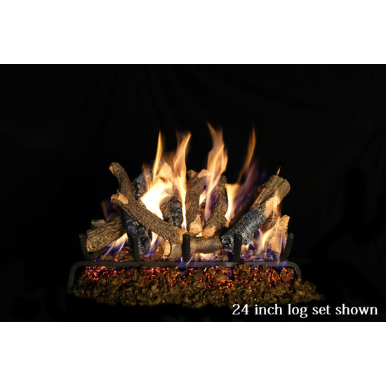 Peterson Real Fyre Charred Oak Stack Vented Gas Log Set