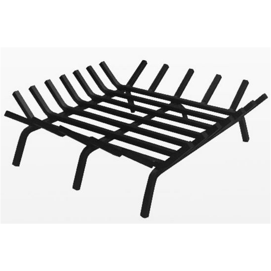 36 Inch Square Carbon Steel Fire Pit Grate