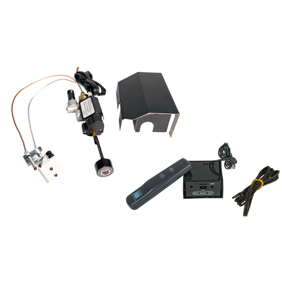 Real Fyre APK-17 Standing Pilot Gas Valve Kit with Variable Flame Remote Control