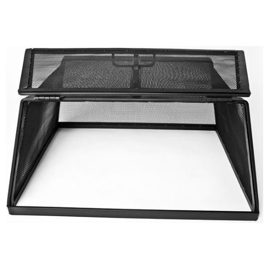 Square Stainless Steel Hinged Fire Pit Screen access door