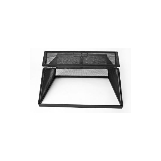 Rectangle Stainless Steel Hinged Fire Pit Screen open_2