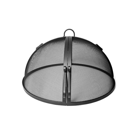 Round Stainless Steel Hinged Fire Pit Screen_3