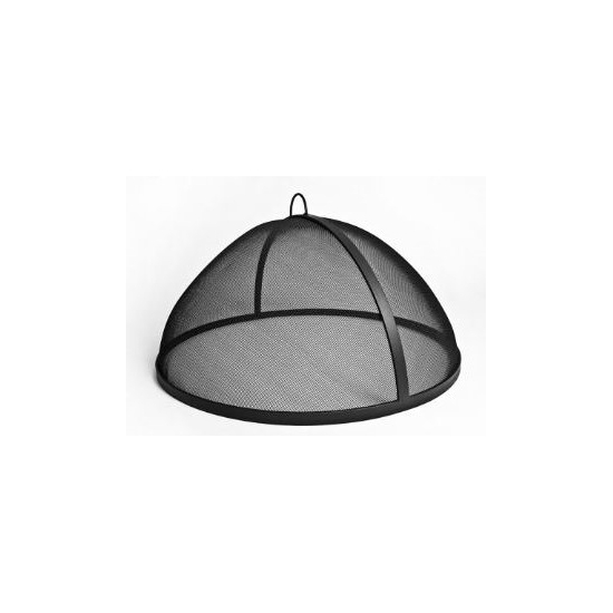 Fire Pit Screen Carbon Steel Dome Style No Hinge