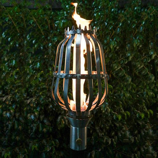 Urn Style Stainless Steel Tiki Torch