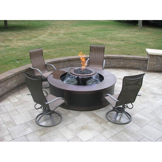 Evolution 360° with the optional aluminum surround used as a customer's fire pit!