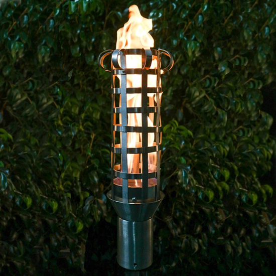 Box Weave Stainless Steel Tiki Torch