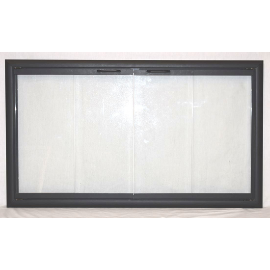 The Nightwell Zero Clearance Fireplace Door back view - easy installation!