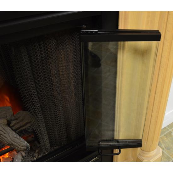 Trackless bi-fold doors - Nightwell Zero Clearance Fireplace Door