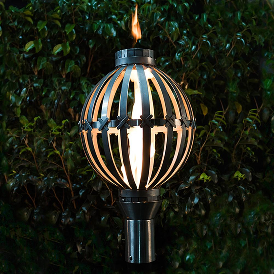 Globe Style Stainless Steel Tiki Torch