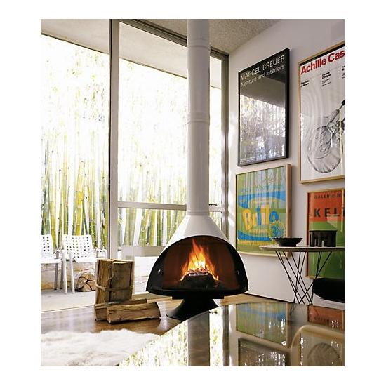 Malm 34 Inch Zicron Wood Burning Fireplace
