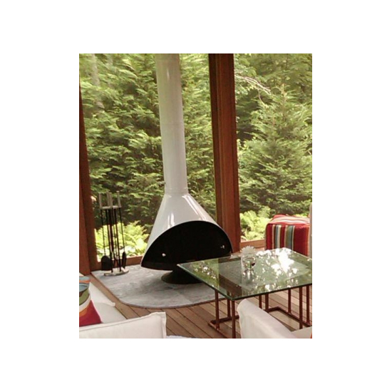 Malm 30 inch Zircon Wood Burning Fireplace