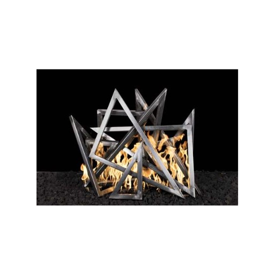 Steel Triangle Fire Pit Ornament
