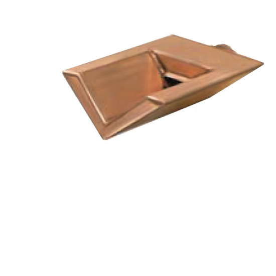 12 Inch Wide V Shaped Pool Scupper