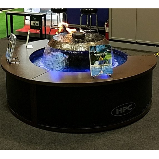 H2Onfire Cyprus 360° Fire On Water Fountain is quite popular at the outdoor shows!