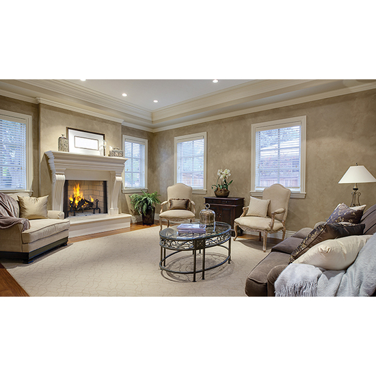 Superior 6000 Wood Fireplace 36 Inch Set With Chimney Pipe