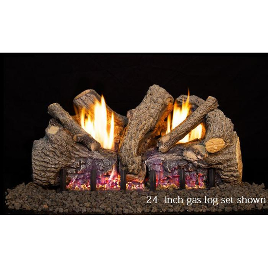 Real Fyre Foothill Oak Vent Free Gas Logs With Remote
