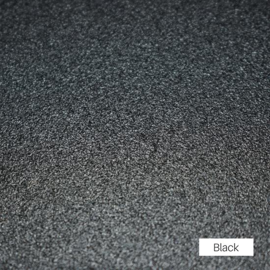 Black powder coat finish