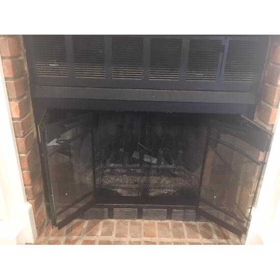 Carolina Arch Conversion ZC fireplace door offers bi-fold doors.