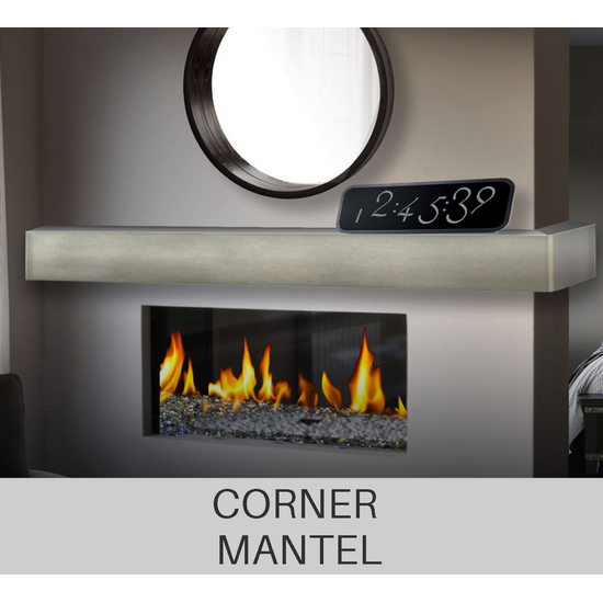 Corner fireplace mantel shelf