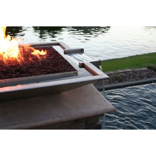 Stainless Steel Square Fire and Water Bowl
