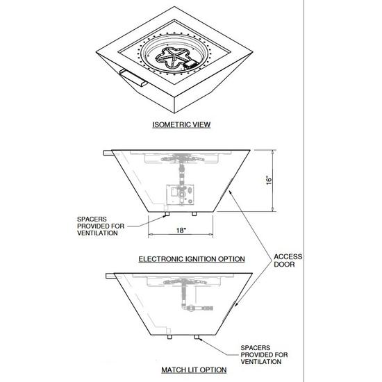 Fire Bowl Dimension Diagram