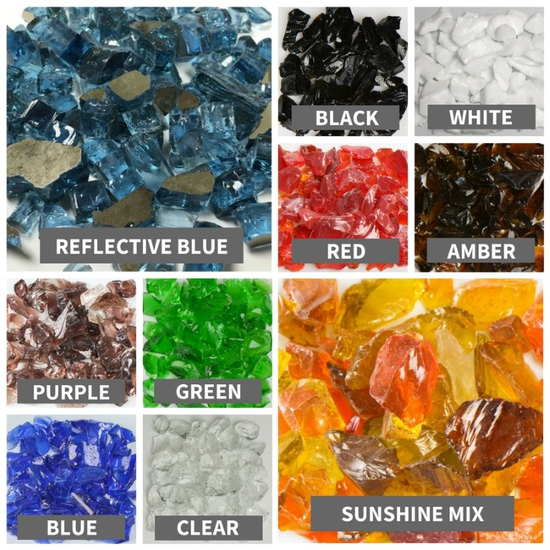 Fire Glass Color Options