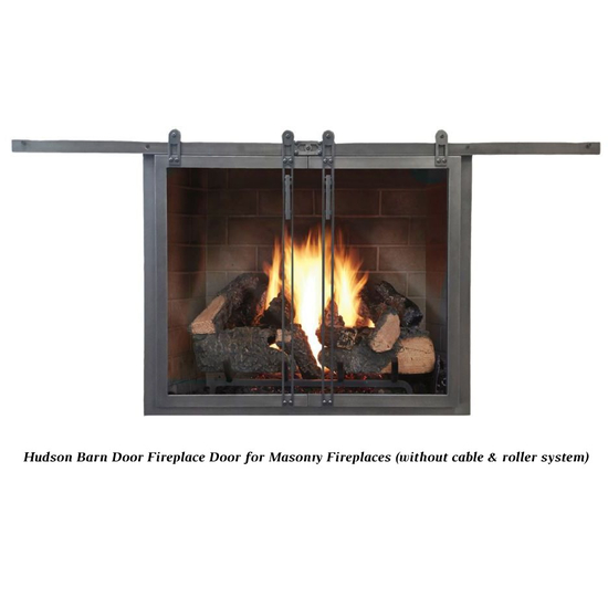 Hudson Masonry Fireplace Door in Natural Iron