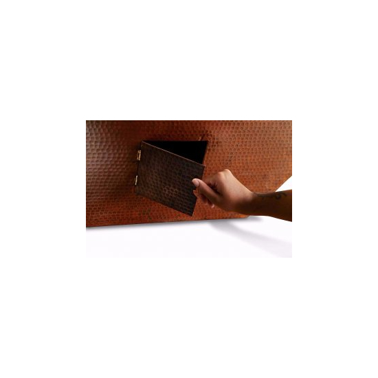 Access door for gas lines for your copper fire bowl.