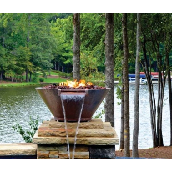 Copper Round Fire and Water Bowl