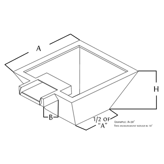 stainless steel fire and water bowl diagram