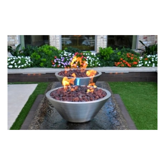 stainless steel roung fire bowl