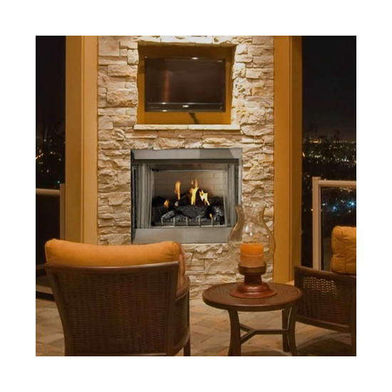 Empire Carol Rose Outdoor Traditional Stainless Gas Fireplace 36 Inch