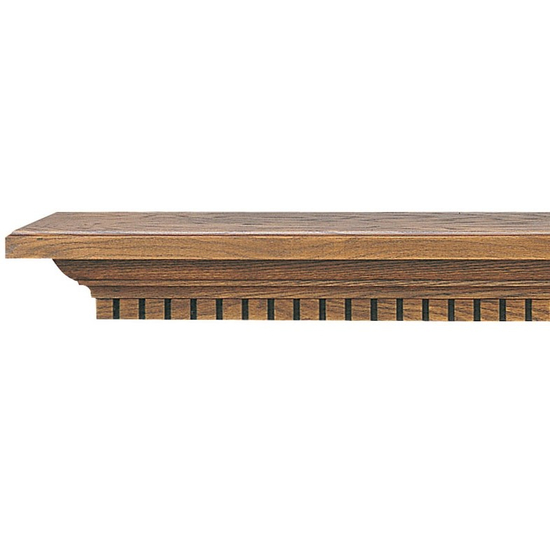 Atherton Wooden Mantel Shelf with a Medium Stain