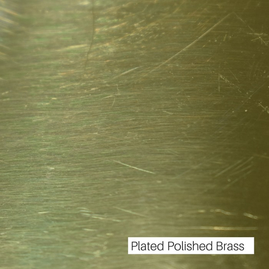 Plated Polish Brass Finish