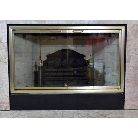 Sunlyte Zero Clearance Fireplace Door in Vintage Brass