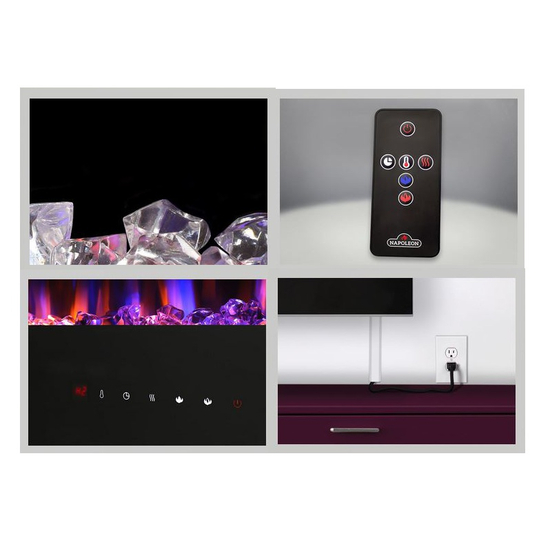 Included accessories with the allure electric fireplace 50 inch