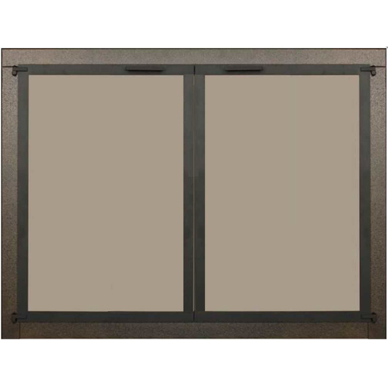 Appalachian Air Sealed Ceramic Glass Fireplace Door in Oil Rubbed Bronze