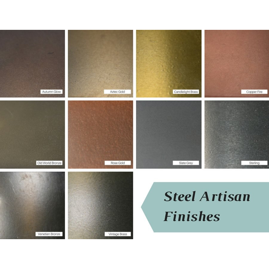 Artisan finishes for steel Design Specialties tool sets